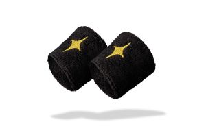 Black StarVie padel wristbands - Gold Star