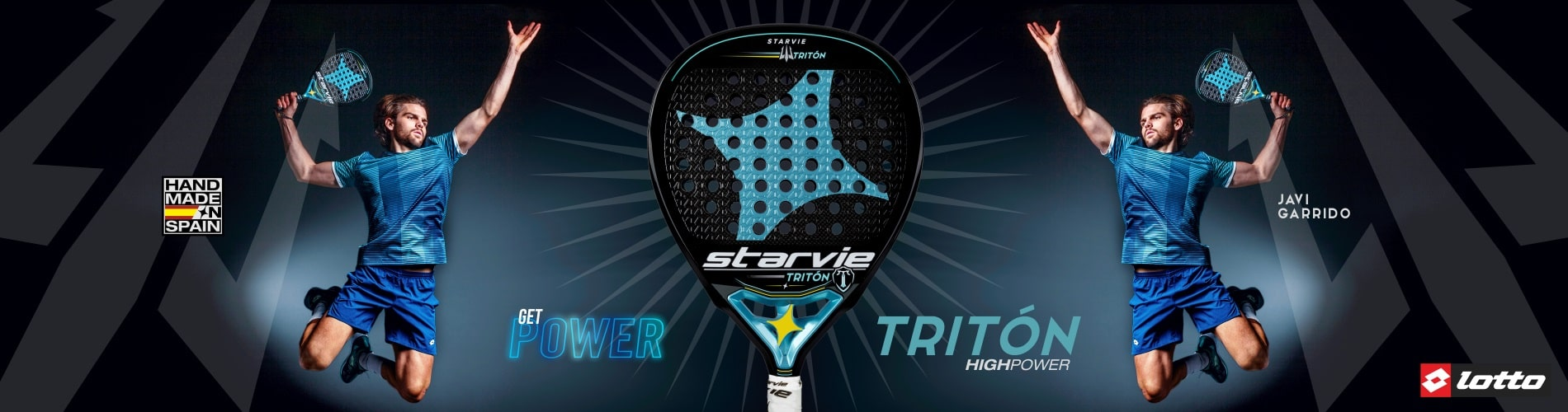Triton StarVie padel racket with teardrop shape