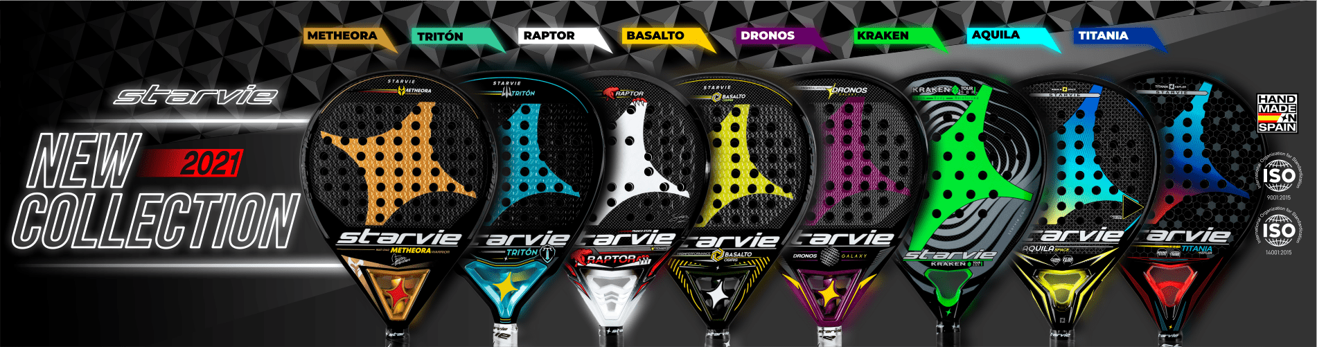 New Collection Padel Rackets 2021 - StarVie