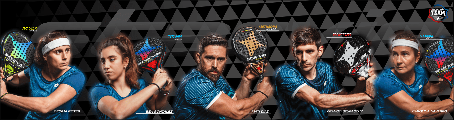 StarVie professional padel players