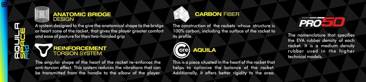 Tech padel racket Aquila Space Pro