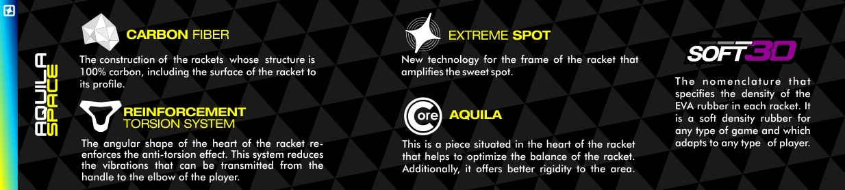 Tech padel racket Aquila Space