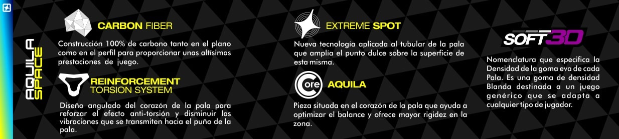 Tecnologia Pala de pádel Aquila Space
